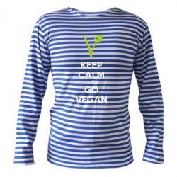 Тельняшка с длинным рукавом Keep calm and go vegan - FatLine