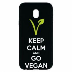 Чехол для Samsung J3 2017 Keep calm and go vegan