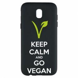 Чехол для Samsung J5 2017 Keep calm and go vegan