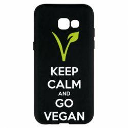Чехол для Samsung A5 2017 Keep calm and go vegan