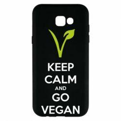 Чехол для Samsung A7 2017 Keep calm and go vegan