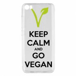 Чехол для Xiaomi Mi5/Mi5 Pro Keep calm and go vegan