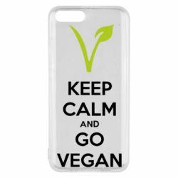 Чехол для Xiaomi Mi6 Keep calm and go vegan