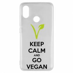 Чехол для Xiaomi Mi8 Keep calm and go vegan