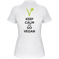 Женская футболка поло Keep calm and go vegan - FatLine