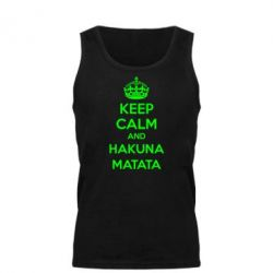 Мужская майка KEEP CALM and HAKUNA MATATA - FatLine