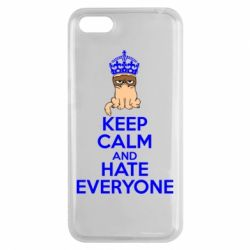 Чехол для Huawei Y5 2018 KEEP CALM and HATE EVERYONE - FatLine