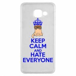 Чехол для Samsung A3 2016 KEEP CALM and HATE EVERYONE - FatLine