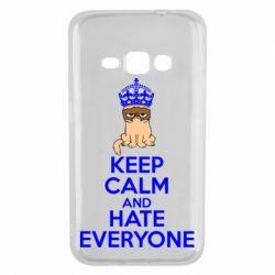 Чехол для Samsung J1 2016 KEEP CALM and HATE EVERYONE - FatLine