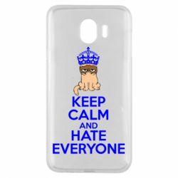 Чехол для Samsung J4 KEEP CALM and HATE EVERYONE - FatLine