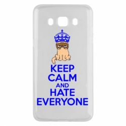 Чехол для Samsung J5 2016 KEEP CALM and HATE EVERYONE - FatLine