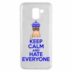 Чехол для Samsung J6 KEEP CALM and HATE EVERYONE - FatLine