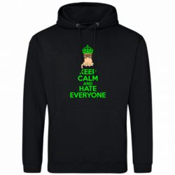 Толстовка KEEP CALM and HATE EVERYONE - FatLine