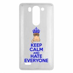 Чехол для LG G3 mini/G3s KEEP CALM and HATE EVERYONE - FatLine