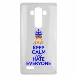 Чехол для LG G4 KEEP CALM and HATE EVERYONE - FatLine