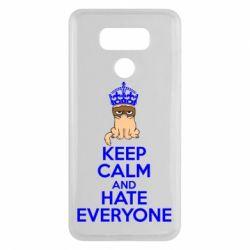 Чехол для LG G6 KEEP CALM and HATE EVERYONE - FatLine