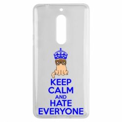 Чехол для Nokia 5 KEEP CALM and HATE EVERYONE - FatLine