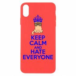Чехол для iPhone Xs Max KEEP CALM and HATE EVERYONE - FatLine