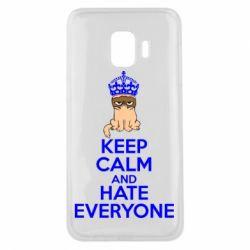 Чехол для Samsung J2 Core KEEP CALM and HATE EVERYONE - FatLine