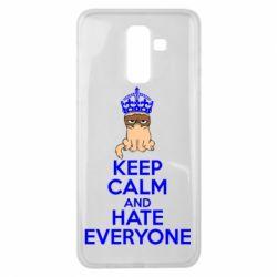 Чехол для Samsung J8 2018 KEEP CALM and HATE EVERYONE - FatLine
