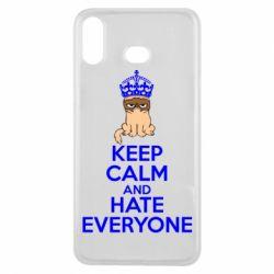 Чехол для Samsung A6s KEEP CALM and HATE EVERYONE - FatLine
