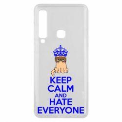 Чехол для Samsung A9 2018 KEEP CALM and HATE EVERYONE - FatLine