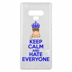 Чехол для Samsung Note 9 KEEP CALM and HATE EVERYONE - FatLine
