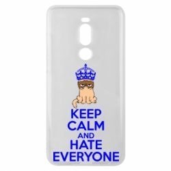 Чехол для Meizu Note 8 KEEP CALM and HATE EVERYONE - FatLine