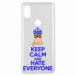 Чехол для Xiaomi Mi Mix 3 KEEP CALM and HATE EVERYONE - FatLine