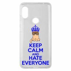 Чехол для Xiaomi Redmi Note 6 Pro KEEP CALM and HATE EVERYONE - FatLine