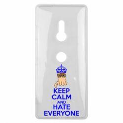 Чехол для Sony Xperia XZ3 KEEP CALM and HATE EVERYONE - FatLine