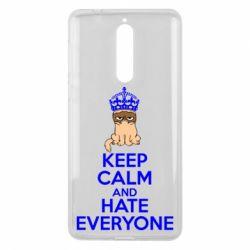 Чехол для Nokia 8 KEEP CALM and HATE EVERYONE - FatLine