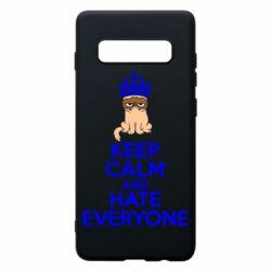 Чехол для Samsung S10+ KEEP CALM and HATE EVERYONE