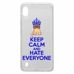 Чехол для Samsung A10 KEEP CALM and HATE EVERYONE
