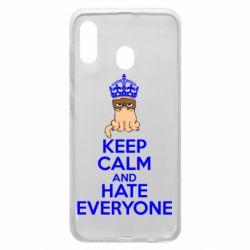 Чехол для Samsung A20 KEEP CALM and HATE EVERYONE