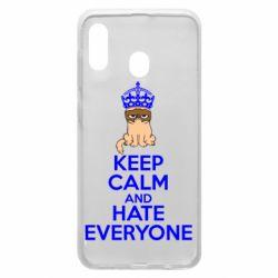 Чехол для Samsung A30 KEEP CALM and HATE EVERYONE