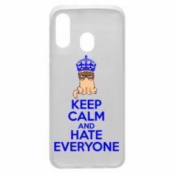 Чехол для Samsung A40 KEEP CALM and HATE EVERYONE