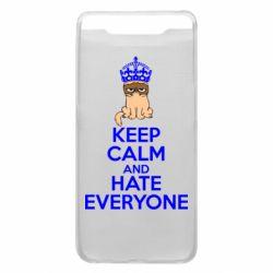 Чехол для Samsung A80 KEEP CALM and HATE EVERYONE