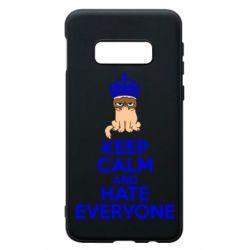 Чехол для Samsung S10e KEEP CALM and HATE EVERYONE