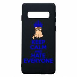 Чехол для Samsung S10 KEEP CALM and HATE EVERYONE