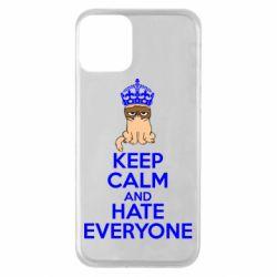 Чехол для iPhone 11 KEEP CALM and HATE EVERYONE