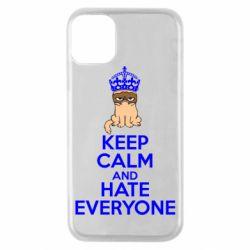 Чехол для iPhone 11 Pro KEEP CALM and HATE EVERYONE