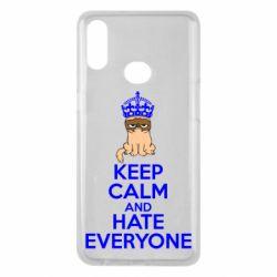 Чехол для Samsung A10s KEEP CALM and HATE EVERYONE