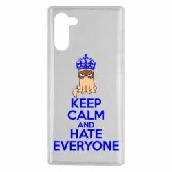 Чохол для Samsung Note 10 KEEP CALM and HATE EVERYONE