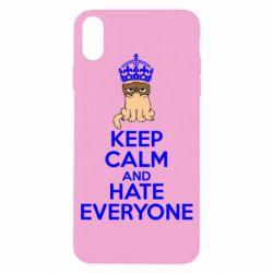 Чехол для iPhone X KEEP CALM and HATE EVERYONE - FatLine