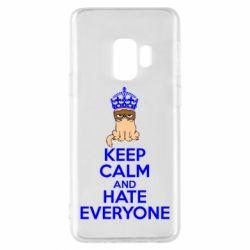 Чехол для Samsung S9 KEEP CALM and HATE EVERYONE - FatLine