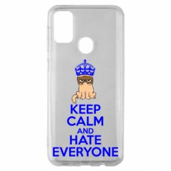 Чехол для Samsung M30s KEEP CALM and HATE EVERYONE