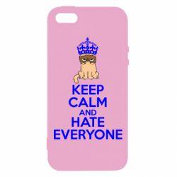 Чехол для iPhone5/5S/SE KEEP CALM and HATE EVERYONE - FatLine