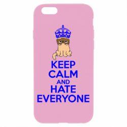 Чехол для iPhone 6/6S KEEP CALM and HATE EVERYONE - FatLine