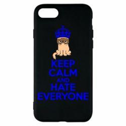 Чехол для iPhone 7 KEEP CALM and HATE EVERYONE - FatLine